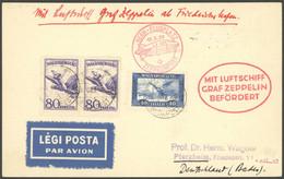ZULEITUNGSPOST 93A BRIEF, Ungarn: 1930, Landungsfahrt Nach Bern, Prachtkarte, R! - Luftpost