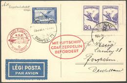 ZULEITUNGSPOST 93B BRIEF, Ungarn: 1930, Landungsfahrt Nach Basel, Braunroter Ankunftsstempel, Prachtkarte, R! - Luftpost