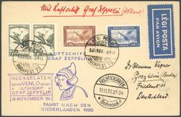 ZULEITUNGSPOST 98 BRIEF, Ungarn: 1930, Fahrt In Die Niederlande, Mit Violettem Venlo-Ankunftsstempel, Fotoattest Sieger, - Luftpost