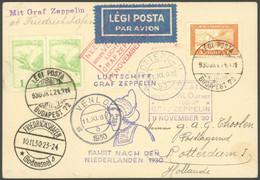 ZULEITUNGSPOST 98Aa BRIEF, Ungarn: 1930, Fahrt In Die Niederlande, Abwurf Venlo, Mit Violettem Und Rotem Venlo-Stempel,  - Luftpost