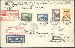 ZULEITUNGSPOST 101 BRIEF, Ungarn: 1931, Ungarnfahrt, Frankiert U.a. Mit Zeppelinpostmarken, Gestempelt Am 25.3.1931 (2 T - Luftpost