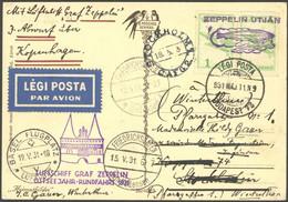 ZULEITUNGSPOST 108 BRIEF, Ungarn: 1931, Ostseejahr-Rundfahrt, Irrläufer, Vorgesehen Budapest - Stockholm, Gestrichen Und - Luftpost