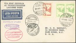 ZULEITUNGSPOST 123 BRIEF, Ungarn: 1931, Fahrt Nach Lausanne, Prachtbrief - Luftpost