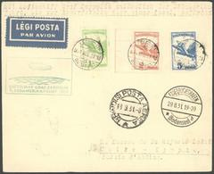 ZULEITUNGSPOST 124Aa BRIEF, Ungarn: 1931, 1. Südamerikafahrt, Abwurf Kap Verde, Prachtbrief - Luftpost