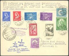 ZULEITUNGSPOST 164B BRIEF, Ungarn: 1932, Fahrt In Die Niederlande, Abwurf Groningen, Prachtbrief - Luftpost