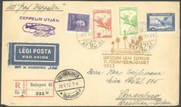 ZULEITUNGSPOST 183 BRIEF, Ungarn: 1932, 7. Südamerikafahrt, Einschreibbrief, Linke Untere Ecke Etwas Defekt Sonst Pracht - Luftpost