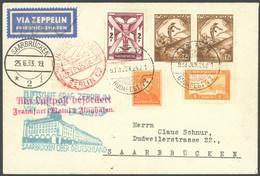 ZULEITUNGSPOST 218A BRIEF, Ungarn: 1933, Saargebietsfahrt, Rundfahrt, Prachtbrief - Luftpost