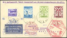 ZULEITUNGSPOST 232B BRIEF, Ungarn: 1933, 7. Südamerikafahrt, Anschlußflug Ab Berlin, Prachtbrief Nach Montevideo! - Luftpost