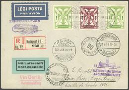 ZULEITUNGSPOST 254 BRIEF, Ungarn: 1934, 3. Südamerikafahrt, Einschreibbrief, Pracht - Luftpost