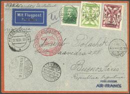 ZULEITUNGSPOST 283 BRIEF, Ungarn: 1934, 11. Südamerikafahrt, Auflieferung Friedrichshafen (c), Brief Senkrecht Gefaltet  - Luftpost