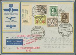 ZULEITUNGSPOST 189 BRIEF, Vatikan: 1932, 8. Südamerikafahrt, Einschreibbrief, Pracht - Luftpost